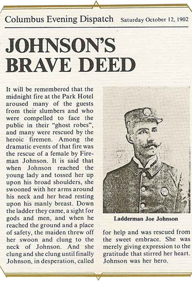 Johnson's Brave Deed article